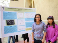 Diana Molina, and her sister at the 2013 poster symposium